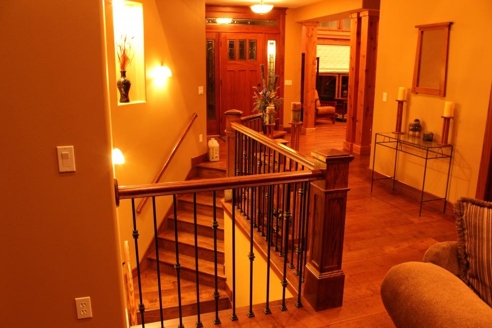 Red Oak Box Newels And Custom Red Oak Stair Treads