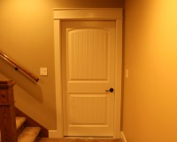 Painted poplar trim and door