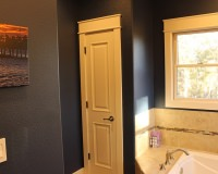 Painted poplar trim with header