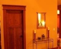 Craftman style red oak door and trim