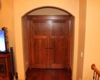 Red oak craftsman style door and trim