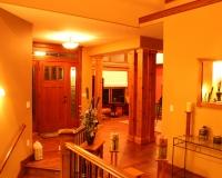 Red oak entry door and trim