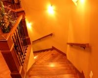 Custom red oak staircase