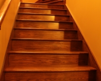 Red oak staircase and handrail