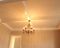 Custom maple painted beams